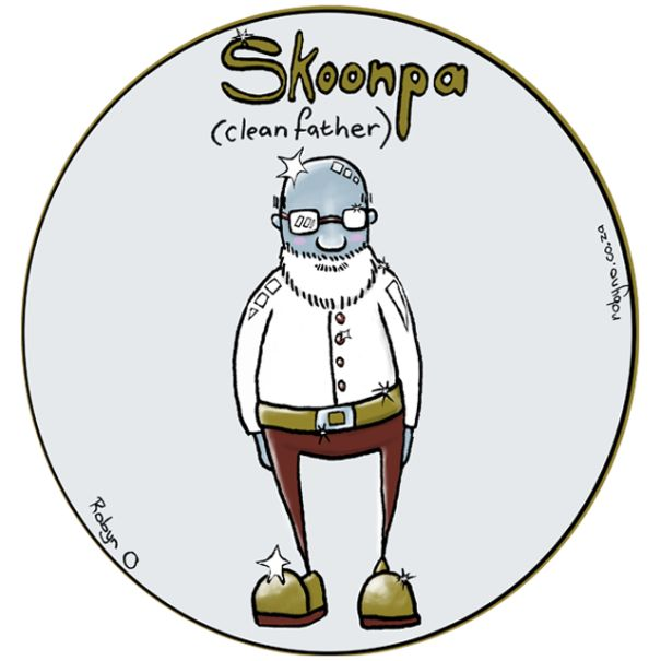 Skoonpa (Father-in-Law) - Cute Illustrations of Directly Translated Afrikaans Words by RobynO (Me) BoredPanda