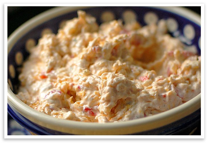 pimento-cheese-dip  (this has a little kick to it due to the cayenne) Yumo! Use Endive as scoops instead of crackers.