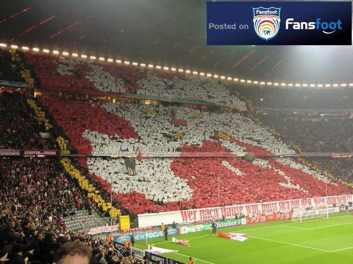 Great Tifo from #Germany #BayernMünchen #Schickeria München