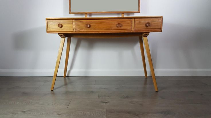 Dressing Table & Mirror by Lucian Ercolani for Ercol, 1960s 7