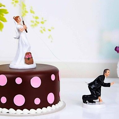 Fishing With Love Cake Toppers – USD $ 14.99