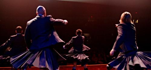A chance to see what's under their kilts.