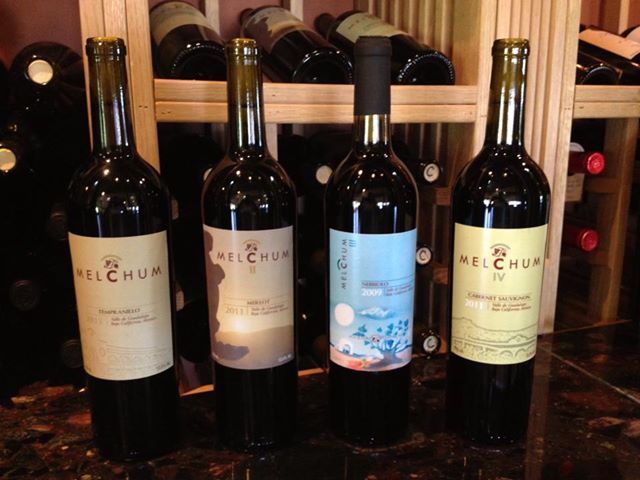 Los 4 vinos de la casa: Melchum Merlot 2011 Melchum Tempranillo 2011 Melchum Cabernet Sauvignon 2011 Melchum Nebbiolo 2009