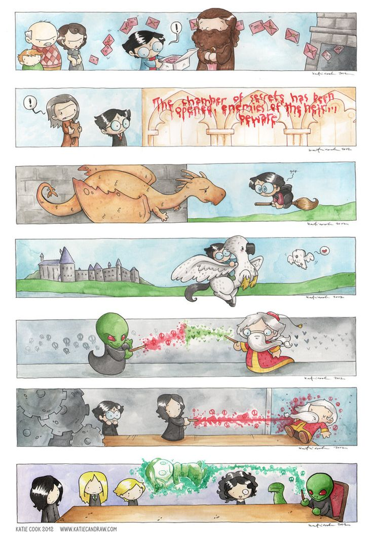 more harry potter scenes by ~katiecandraw on deviantART