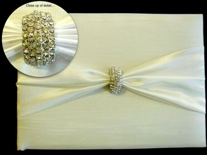 Guest Book with Diamante Clasp http://www.aussieweddingshop.com.au/Product/49/guest-book-with-diamante-clasp