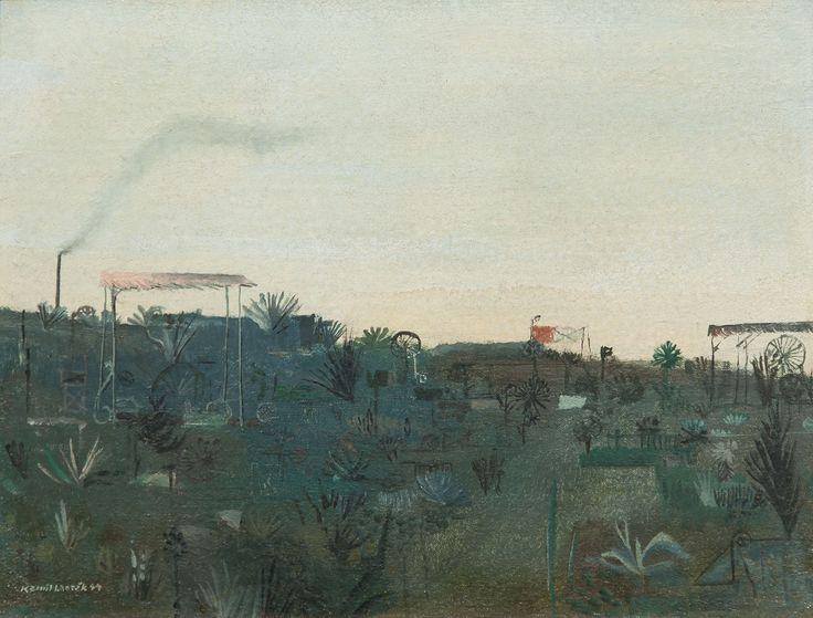 Kamil Lhoták | Garden, 1944 | oil, carton, 25 × 33 cm