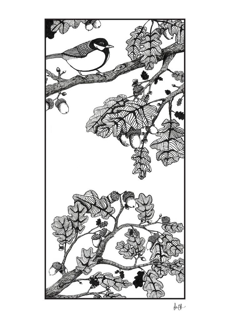 Oak leaves by Mia Olofsson