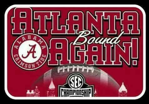 Nov, 13th 2016 Alabama clinched the S.E.C. West Title and are Atlanta bound for the SEC Championship.