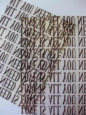 How to make your own rub on transfers with transparency film and an inkjet printer.