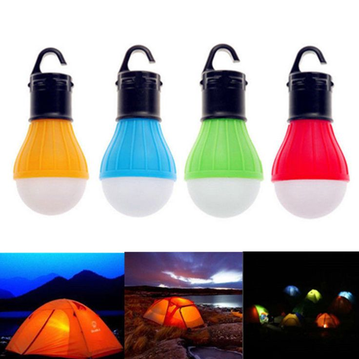 An absolute must-have for the camping novice or expert! LED light bulb Durable plastic Powered by 3 AAA batteries (not included). Emits a white illumination Pro