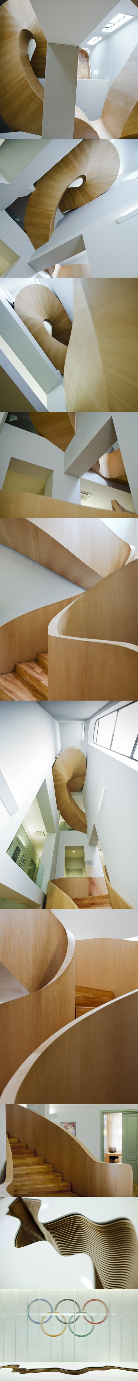 Stair Porn: National Olympic Committee House   by Architects of Invention