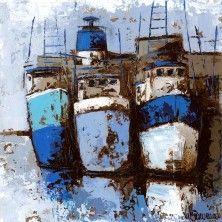 Oeuvre Marine - Puerto azul - Natalia Villanueva - Huile