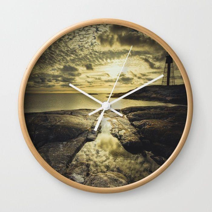 Good night sweet sun Wall Clock by HappyMelvin | Society6