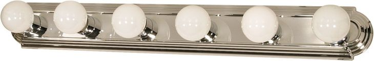 Vanity Light Bar Racetrack Style in Polished Chrome Finish