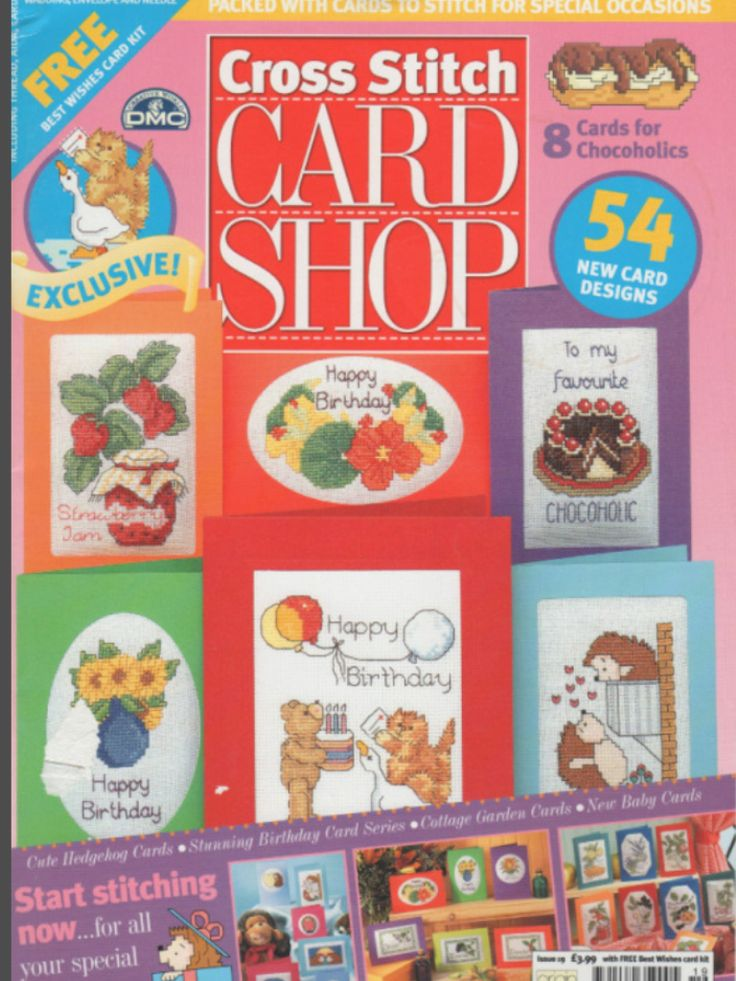 Cross Stitch Card Shop Issue 19 July/August 2001 Saved