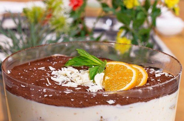 Beyaz Çikolatalı ve Portakallı Tiramisu