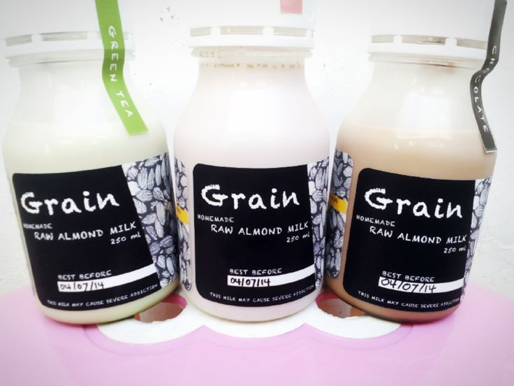 new homemade grain_almond milk  this is very healthy.   south jakarta products.