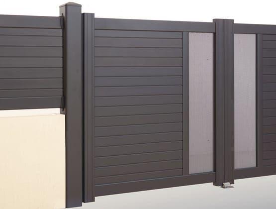 Portail battant alu gamme contemporaine design modèle Vallemont