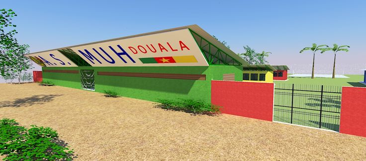 Masterplan design and architectural design of a sports college facility in Douala