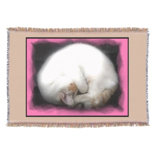 Do not Disturb the Cat Throw Blanket by https://www.zazzle.com/htgraphicdesigner*