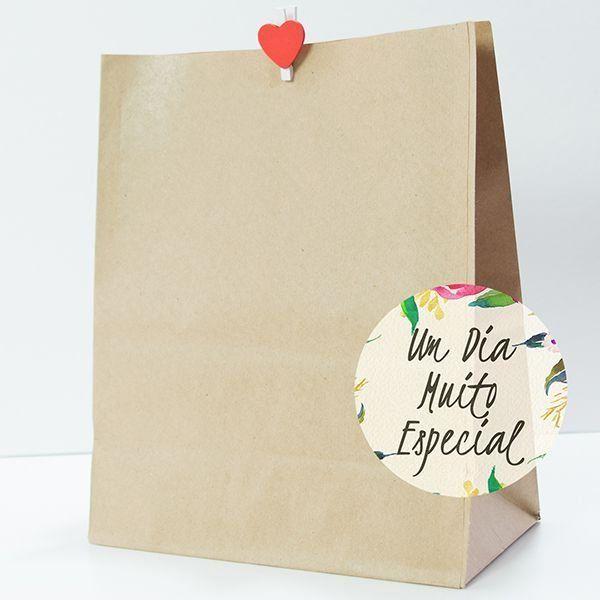 Saco Kraft COM Mini Pregador para lembrancinha de casamento aniversário chá de bebê - Lembrancinhas e Decoração Romântica para Festas   Um Dia Muito Especial