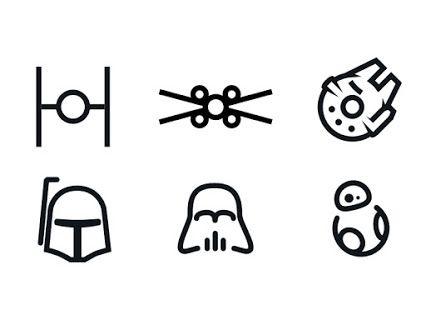 minimal #StarWars icons                                                                                                                                                      More