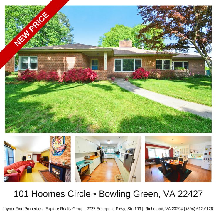 **UNDER CONTRACT** Fully Updated Contemporary Rancher w/ Retro Charm! Offered at only $278,300 | 101 Hoomes Circle, Bowling Green, VA 22427 | 2,666 SqFt | 3 Bed | 2.5 Bath | CVR MLS # 1709583