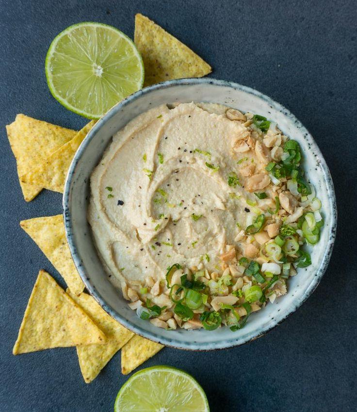 schnelles Thai-Erdnuss Hummus - The Vegetarian Diaries