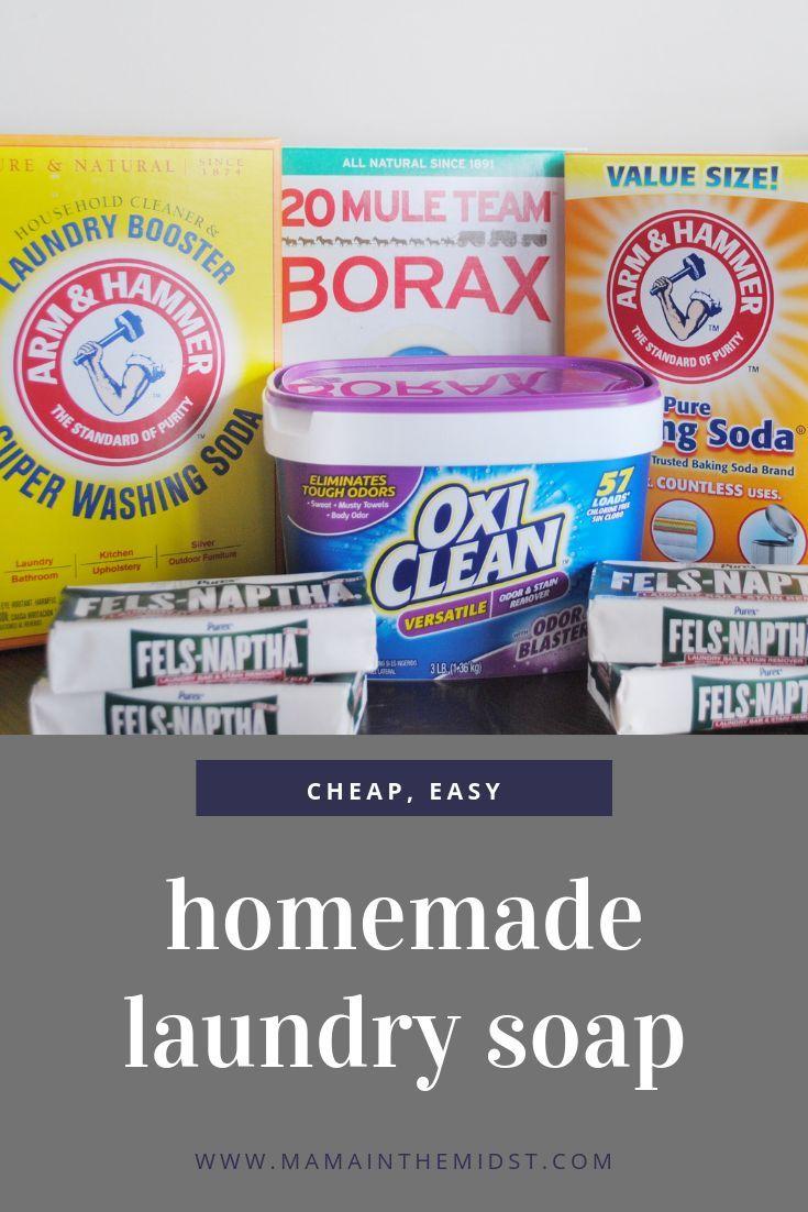 Easy Homemade Laundry Soap Laundry Soap Homemade Homemade