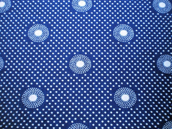 Blue and white dots original south african shweshwe for Fabric material for sale