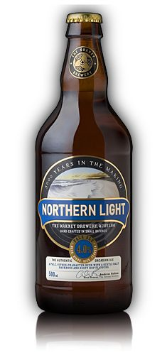 Northern Light 4.0% Pale ale - fruity, zesty and very refreshing when chilled.