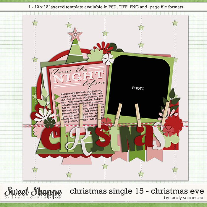Cindy's Templates - Christmas Single 15: Christmas Eve by Cindy Schneider