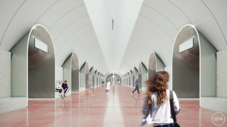 Blank Architects Win Competition to Design Moscow Metro Station,Courtesy of BLANK Architects