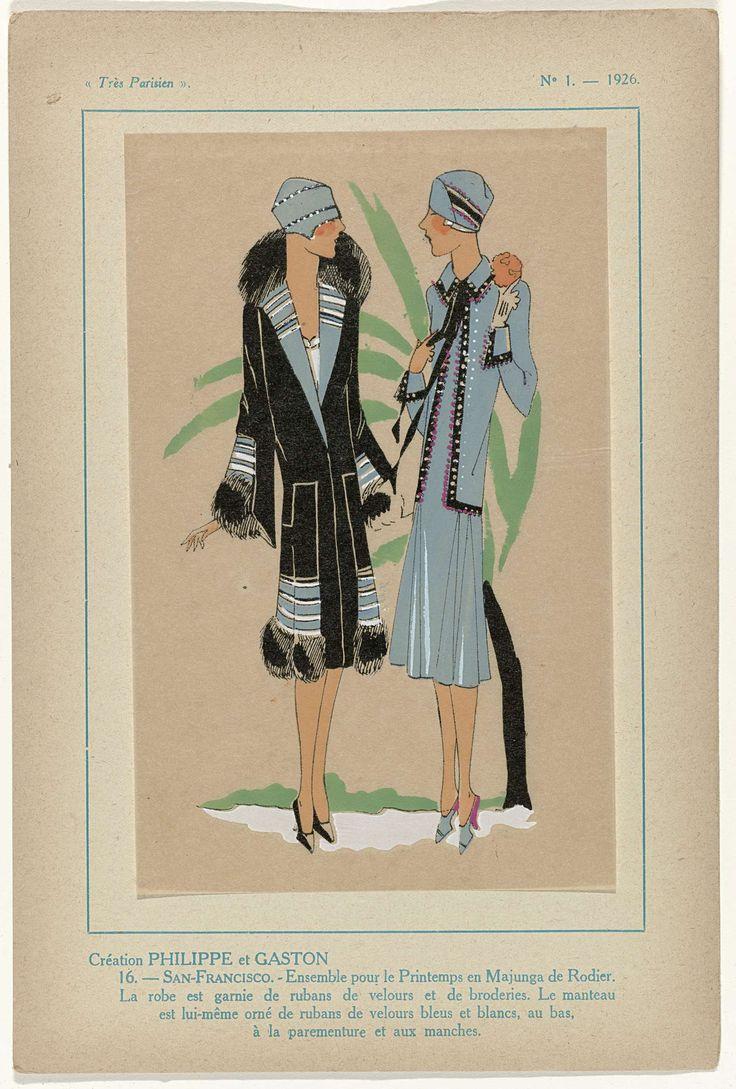 Très Parisien, 1926, No.  1, Pl. 16: Création PHILIPPE et GASTON - SAN-FRANCISCO, G-P. Joumard, 1926