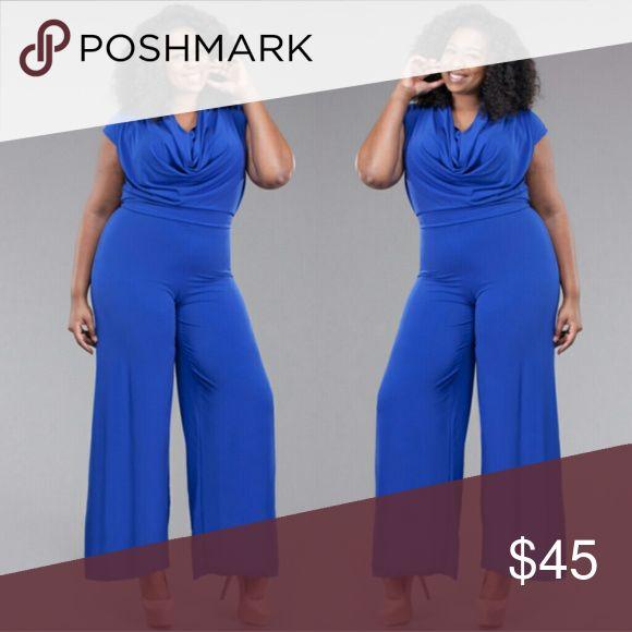 Plus size blue jumpsuit 1x 2x 3x Plus size blue jumpsuit 1x 2x 3x Pants Jumpsuits & Rompers