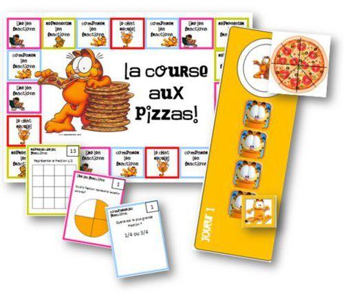 La course aux pizzas - jeux sur les fractions - La classe de Mallory