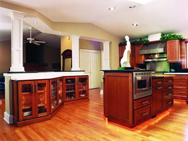 Solution for opening up a load bearing wall kitchen for Kitchen design photos gallery
