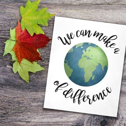 Happy Earth Day!  Remember, we can make a WORLD of difference! . Printable available at alittleleafy.etsy.com  . . . . . #alittleleafy #happyearthday #earthday #earthday2017 #earth #recycling #sustainable #reduce #upcycle #savingplanetearth #environmentalist #loveearth #environmental #planetearth #peace #world #ourearth #nature #love #green #environment #plant #gogreen #planet #eco #ecofriendly #plants #cleanearth #reuse #recycle