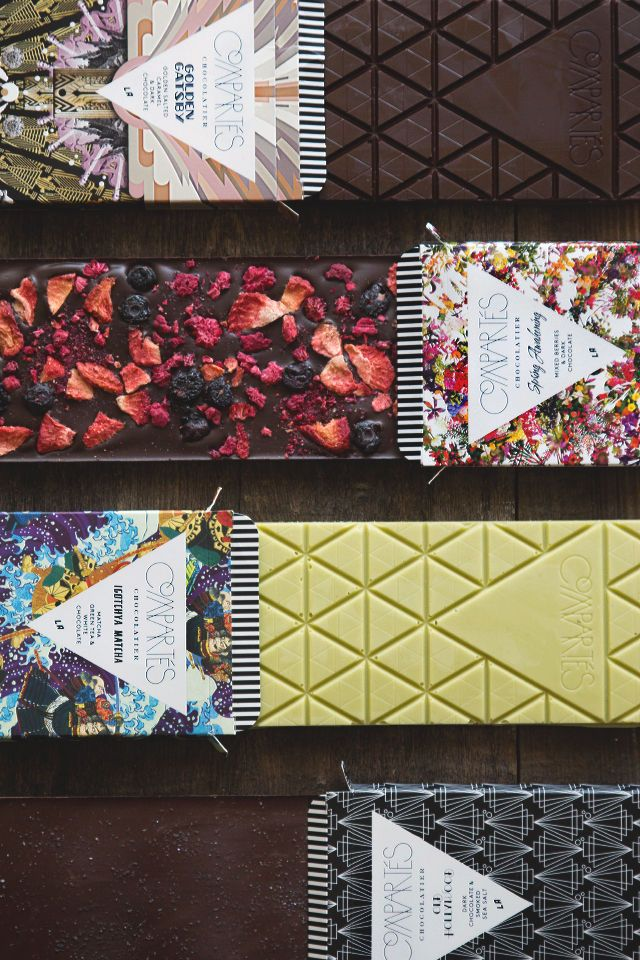 Compartes Stuns with Gourmet Flavors and Visually Vivid Branding #chocolate trendhunter.com