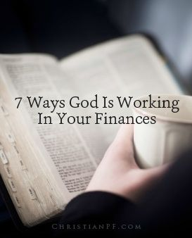 "7 ways God is working in your finances...Here are a few common questions: ""Doesn't the Bible say that money is the root of all evil? Are you implying that a holy God would stoop so low as to work through something as vile as our finances?"" My answers to those two questions are ""no"" and ""yes."" The correct Bible quote is: For the love of money is a root of all kinds of evil. Some people, eager for money, have wandered from the faith and pierced themselves with many griefs. – 1 Timothy 6:10…"