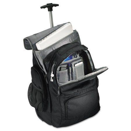 Samsonite Wheeled Backpack, 14 inch x 8 inch x 21 inch, Black/Charcoal