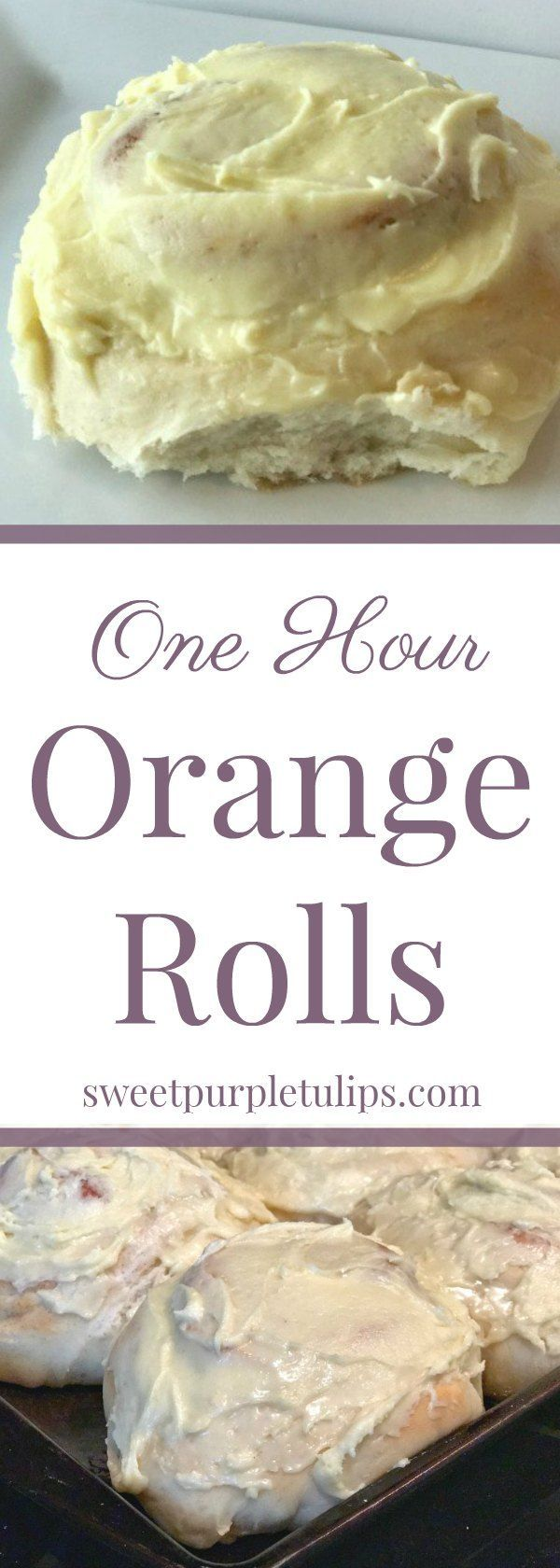 Looking for an orange roll recipe that is quick and easy? This recipe only takes one hour for soft, delicious, fresh baked orange rolls.