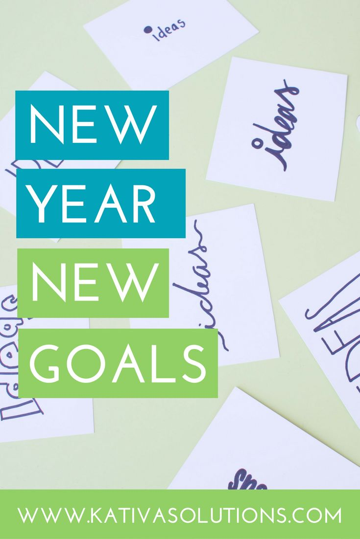 Setting goals for your business. New Year's resolutions for entrepreneurs.