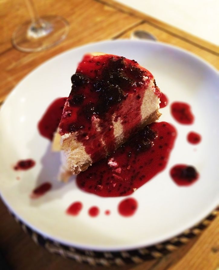 Always delicious, so simple to make #cheesecake #baking #strawberrysauce #recipe