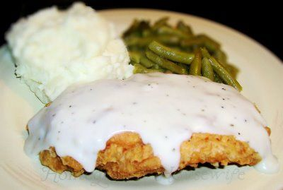 Southern tradition...chicken fried chicken with white gravy!!!!