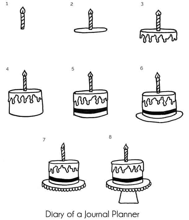 Easy Happy Birthday Doodles With Step By Step Instructions Happy Birthday Doodles Birthday Doodle Happy Birthday Drawings