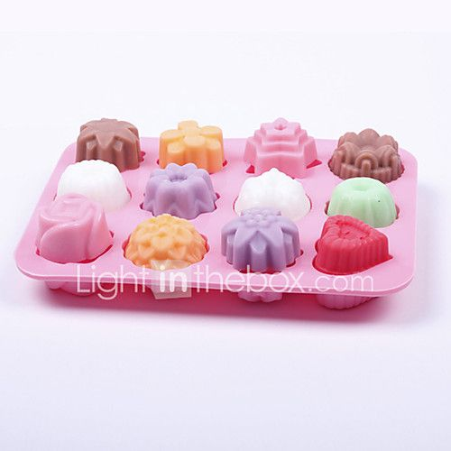 12 Holes Flowers And Plants Silicone Cake Mould Pudding Jelly Ice Mold Handmade Soap Mold - USD $3.19 ! HOT Product! A hot product at an incredible low price is now on sale! Come check it out along with other items like this. Get great discounts, earn Rewards and much more each time you shop with us!