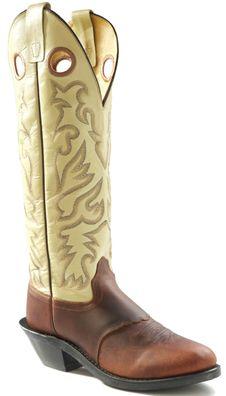 JAMA Old West Mens Leather Buckaroo Cowboy Boots