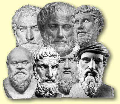 La filosofía griega surgió a partir de las primeras reflexiones de los presocráticos, centradas en la naturaleza. El objetivo de los filósofos presocráticos era encontrar el arjé, o elemento primero de todas las cosas, origen, sustrato y causa de la realidad o cosmos.