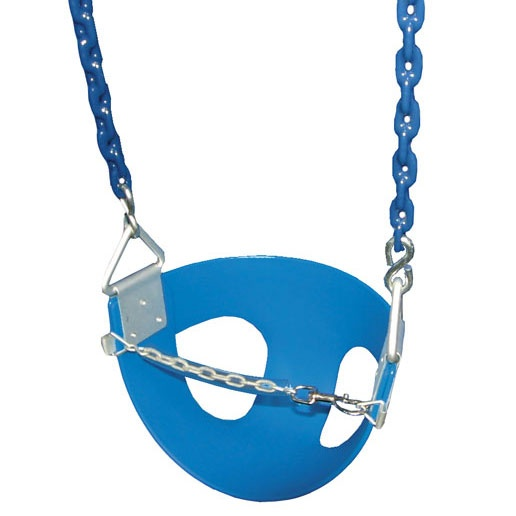 Gorilla Playsets Toddler Half Bucket Swings - Blue, Gorilla Playsets Half Bucket Toddler Swing in Blue. Made from Polymer molded seat with galvanized bucket hangers. Available in Green, Yellow, or Blue.    Gorilla Playsets Half Bucket Toddler Swing is perfect for toddlers ages 3 to 5.